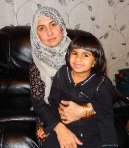 Safa with her mother